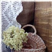 Плетеная настенная корзинка