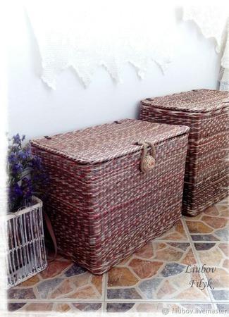 Плетеные корзины для примера ручной работы на заказ