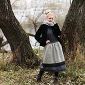 Шерстяная юбка на зиму.
