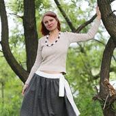 Шерстяная юбка в стиле бохо