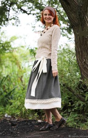 Шерстяная юбка в стиле бохо ручной работы на заказ