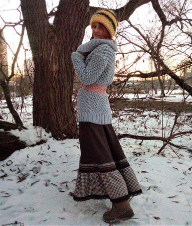 Юбка из шерсти в стиле Бохо ручной работы на заказ