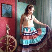 Летняя юбка в стиле бохо