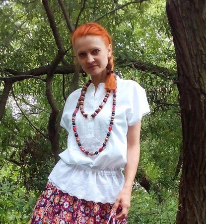 Легкая блузка на лето в стиле бохо ручной работы на заказ
