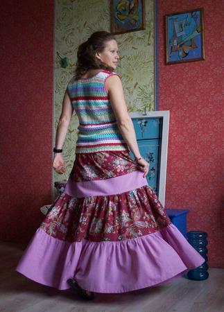 Юбка летняя в стиле бохо ручной работы на заказ