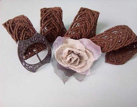 Пояс плетеный ручной работы на заказ