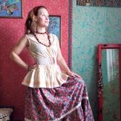 Хлопковая юбка в стиле бохо