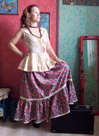 Хлопковая юбка в стиле бохо ручной работы на заказ