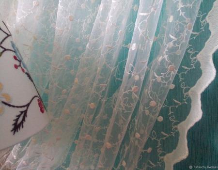 Нежная и романтическая штора с шитьем «Шарм Прованса» ручной работы на заказ