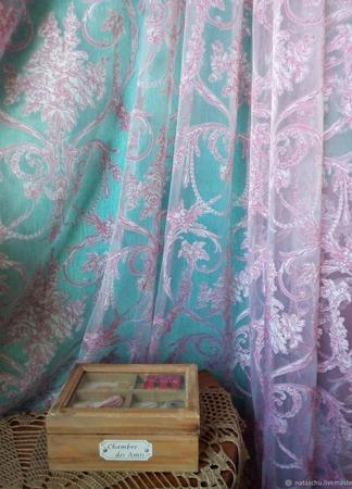 Легкая штора во французском стиле «Туаль Де Жуи». Сама женственность! ручной работы на заказ