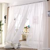 Легкая штора из белой вуали в интерьеры от Прованса до Модерна