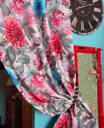 Эффектные шторы «Прованс с пионами». Невероятно красивые. 2 штуки ручной работы на заказ