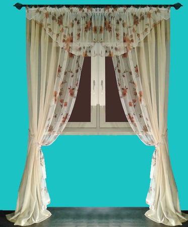 Легкие шторы с ламбрекеном ручной работы на заказ