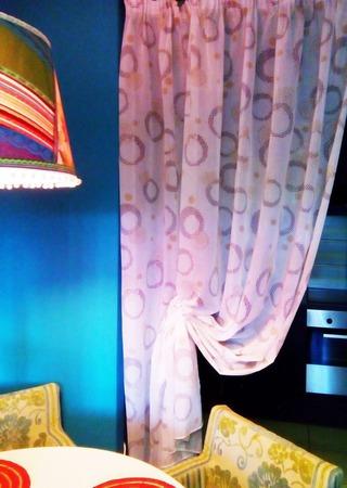 Полупрозрачная штора с симпатичными кругами ручной работы на заказ