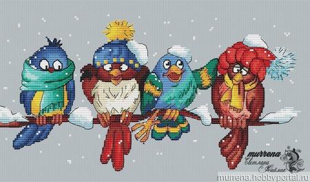 Птички на ветке ручной работы на заказ