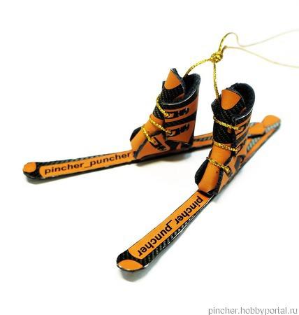 Ботинки и лыжи, сувенир, логотип, подарок мужчине ручной работы на заказ