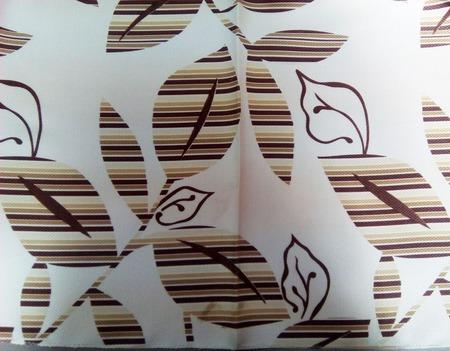 Комплект штор в бежевом цвете из тканей компаньонов ручной работы на заказ
