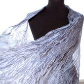 Шарф оттенки серого шелковый шарф палантин натуральный шёлк