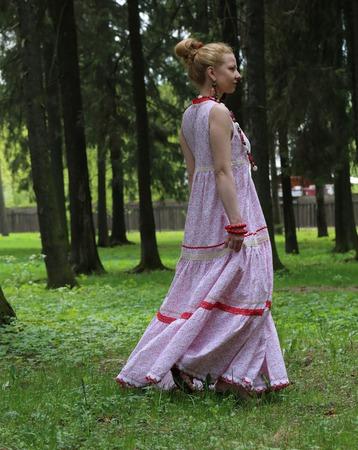 Платье летнее в стиле бохо ручной работы на заказ