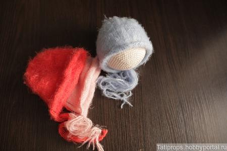 Шапочки для фотосессии новорожденных ручной работы на заказ