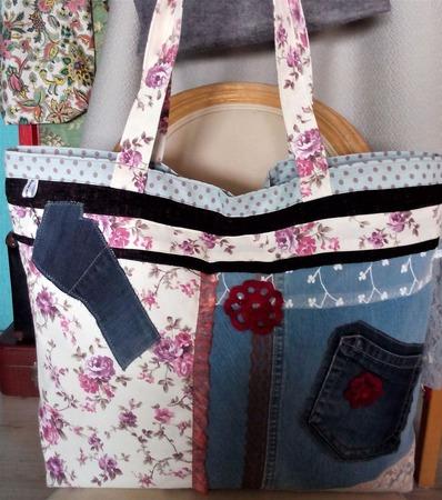 Двухсторонняя сумка «Сумасшедший Прованс». Экосумка. Текстильная сумка ручной работы на заказ