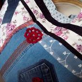 Двухсторонняя сумка «Сумасшедший Прованс». Экосумка. Текстильная сумка