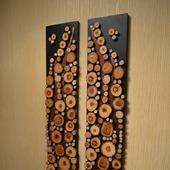 Панно из спилов дерева twix