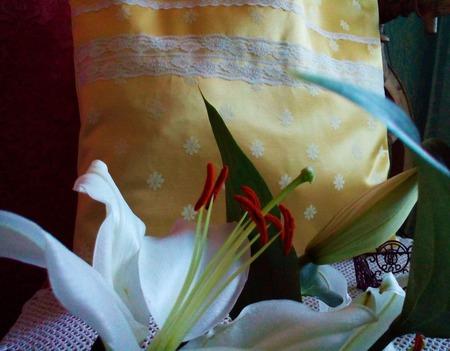 Милая, текстильная авоська с кружевом на каждый день. Экосумка ручной работы на заказ