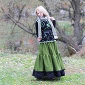 Юбка-бохо полушерстяная для осени или зимы. Теплая юбка.