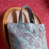Текстильная мини-авоська «Голубая классика»