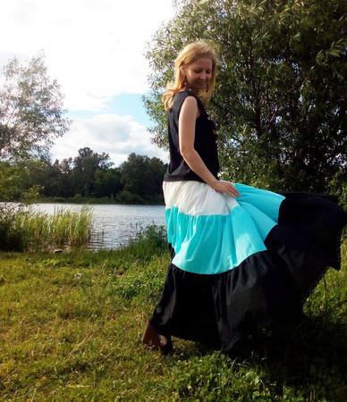 Батистовая юбка ярусами ручной работы на заказ