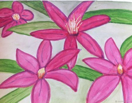 Акварели Цветы экзотические ручной работы на заказ