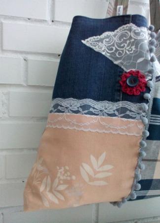 Сумка-авоська на плечо из ткани. Хиппи-стиль. Текстильная экосумка. ручной работы на заказ