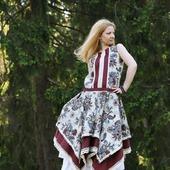 Льняное платье в стиле бохо