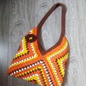 фото: сумка вязаная из хлопка