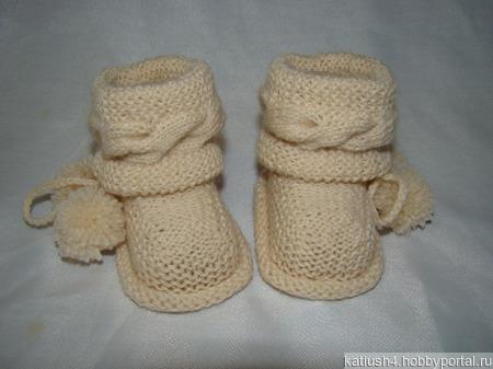 Пинетки ботиночки с косами ручной работы на заказ
