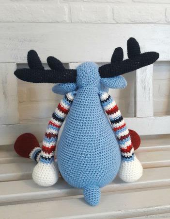 Северный олень Ральф, интерьерная мягкая игрушка крючком ручной работы на заказ