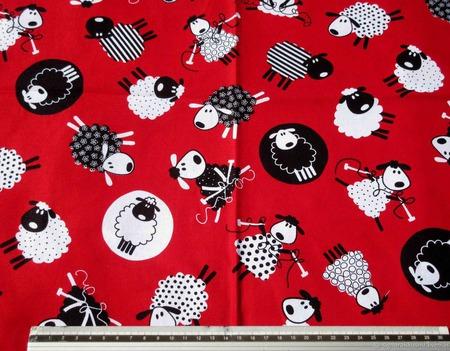 """Ткань для шитья """"Овечки"""" Американский хлопок ручной работы на заказ"""