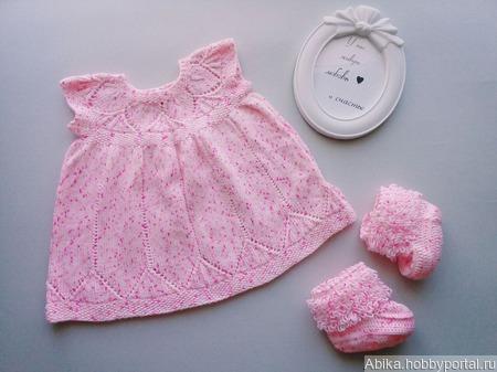 Розовое платье ручной работы на заказ