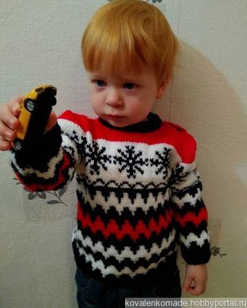Детский свитер ручной работы на заказ