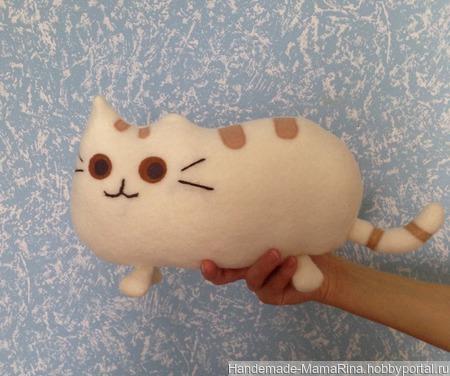 Игрушка-подушка (котоподушка) ручной работы на заказ