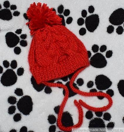 Шапочка для собачки ручной работы на заказ