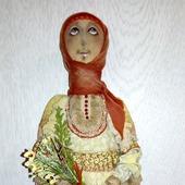 """Текстильная  кукла ручной работы """"Ангел"""", полевые цветы..."""
