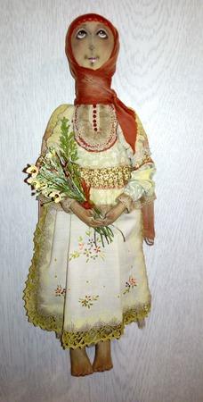 """Текстильная  кукла ручной работы """"Ангел"""", полевые цветы... ручной работы на заказ"""