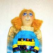 """Интерьерная текстильная кукла-ангел """"Лоскуток"""""""