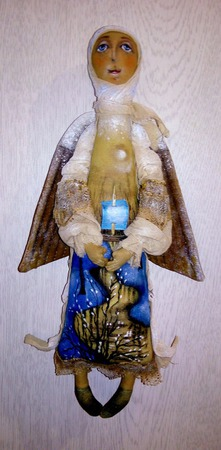 """Интерьерная текстильная славянская кукла-ангел """"Март"""" ручной работы на заказ"""