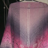 Шаль ажурная, связанная спицами Триана