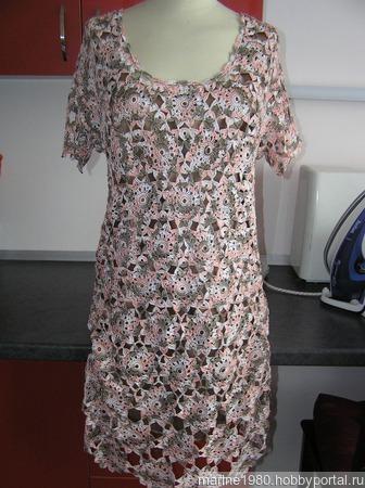 Платье крючком мотивами ручной работы на заказ