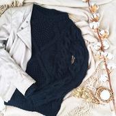 """Модный вязаный свитер """"Wave"""" крупной вязки"""