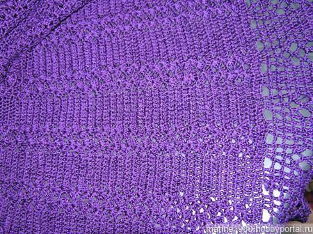 Фиолетовое платье крючком ручной работы на заказ